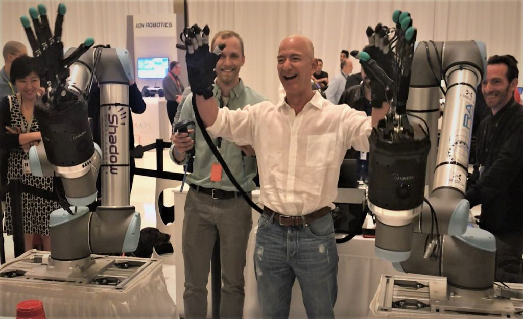 """Weirdly natural"" – words from Jeff Bezos at Amazon re:MARS Tech Showcase 1"