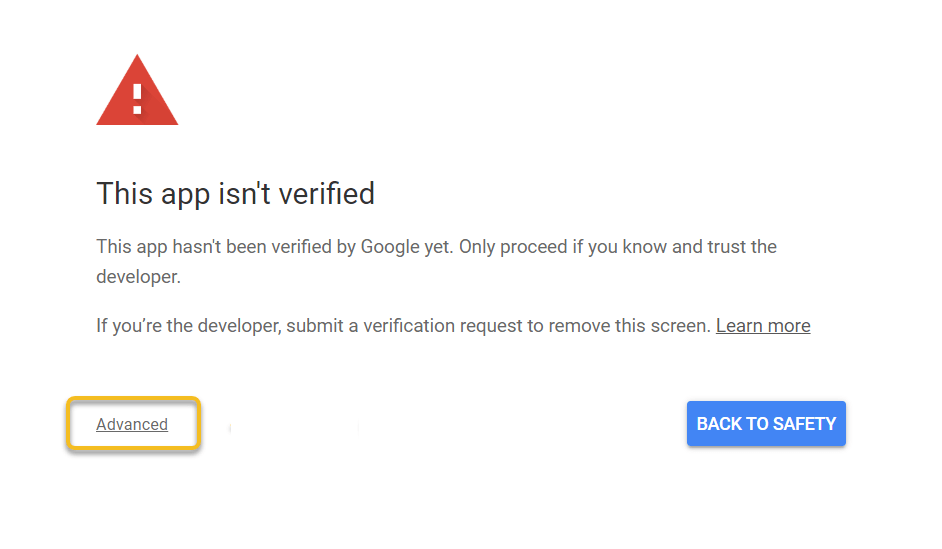 app isn't verified