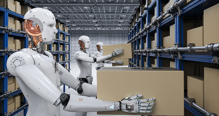 Autonomous Robots in the warehouse using Artificial Intelligence in E-commerce