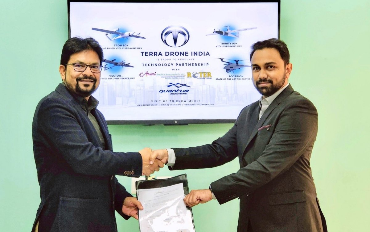Roter Group ,Terra Drone India partner to cater to industrial UAV 30