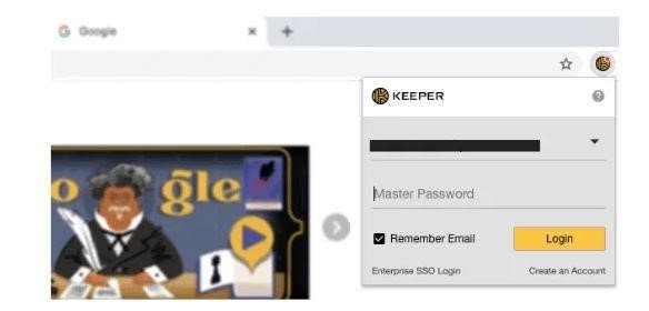 Browser Extension of Keeper Password Manager
