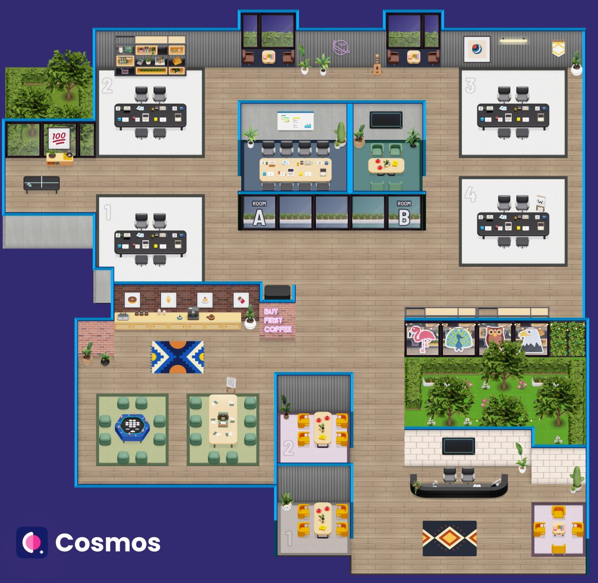 Replicate the physical office to Virtual Space - Cosmos Videos 2